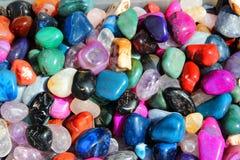 Färgrika gemstones fotografering för bildbyråer