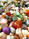 färgrika gemstones royaltyfri fotografi
