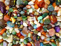 färgrika gemstones arkivfoton