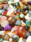 färgrika gemstones royaltyfri foto