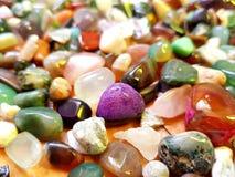 färgrika gemstones royaltyfri bild
