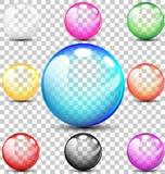 Färgrika genomskinliga bubblor Fotografering för Bildbyråer