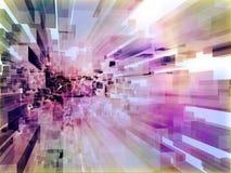 färgrika genomskinliga kublott Arkivbild