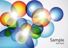 färgrika geometriska spheres för bakgrund Arkivbilder