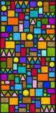 färgrika geometriska tegelplattor Arkivfoto