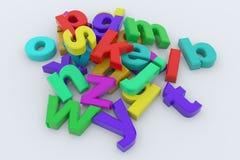 färgrika glansiga bokstäver 3d Arkivbild
