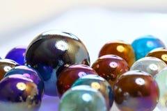 Färgrika glass bollar Arkivfoton