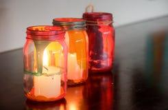 Färgrika glass lampor Royaltyfria Bilder