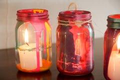 Färgrika glass lampor Royaltyfri Bild