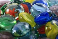 färgrika glass marmorar Royaltyfri Foto
