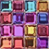 färgrika glass tegelplattor Arkivfoto