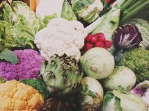 färgrika grönsaker arkivbild
