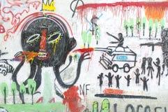 Färgrika Graffity Arkivfoto