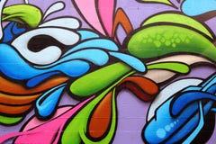 färgrika grafitti för konst royaltyfri bild