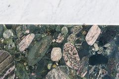 Färgrika granit- och marmortjock skiva Royaltyfri Fotografi