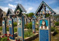 Färgrika gravstenar Royaltyfria Foton