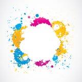 Färgrika grungefärgstänkklotter Arkivbilder