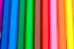 färgrika gruppblyertspennor Royaltyfria Bilder