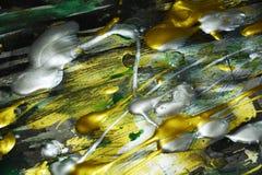 Färgrika guld- gröna röda blåa livliga skuggor för abstrakt målarfärg, abstrakt textur Royaltyfri Bild