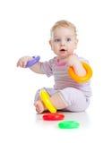 färgrika gulliga lilla leka toys för pojke arkivfoto