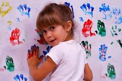 färgrika händer Arkivfoton