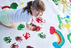 färgrika händer Arkivfoto