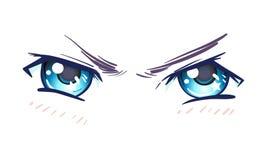 Färgrika härliga ögon i anime (manga) utformar med skinande ljus vektor illustrationer