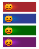 Färgrika halloween baner Arkivbild
