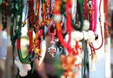 färgrika halsband Royaltyfri Fotografi