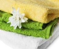 färgrika handdukar Royaltyfri Foto