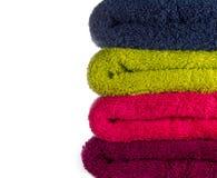 färgrika handdukar Royaltyfri Fotografi