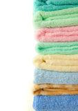 Färgrika handdukar Arkivfoton