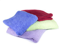 Färgrika handdukar Royaltyfri Bild