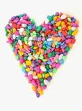 färgrika hjärtastenar fotografering för bildbyråer