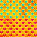 färgrika hjärtastjärnor för bakgrund Stock Illustrationer