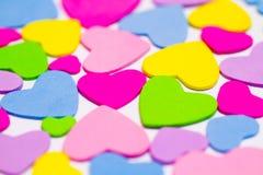 färgrika hjärtor Royaltyfri Foto