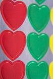 färgrika hjärtor Royaltyfria Foton