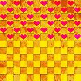 färgrika hjärtor för bakgrund Royaltyfri Illustrationer