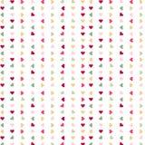 Färgrika hjärtor för sömlös förälskelse på vit bakgrund Arkivfoton