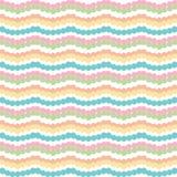 Färgrika horisontalband för sparresicksack på vit bakgrund royaltyfri illustrationer