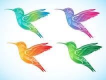 färgrika hummingbirds stock illustrationer