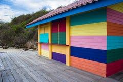färgrika hus arkivbild
