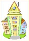 färgrika hus royaltyfri illustrationer