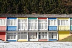 färgrika hus Royaltyfria Foton