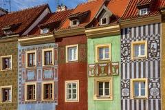 färgrika hus Royaltyfri Bild