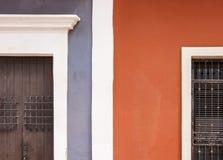 färgrika hus Fotografering för Bildbyråer