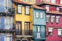Färgrika hus av Porto Royaltyfri Bild