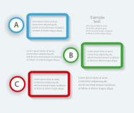Färgrika informationsdiagram för dina affärspresentationer Royaltyfria Foton