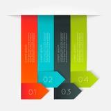 Färgrika informationsdiagram om vektor Royaltyfri Foto