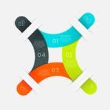 Färgrika informationsdiagram om vektor Arkivfoto